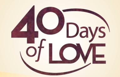 40 days of love graphic